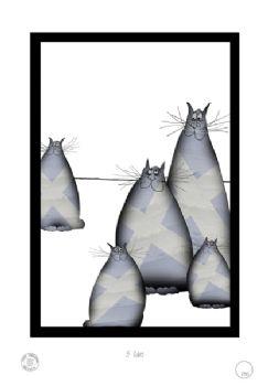5 Shabby Chic Scottish Cats